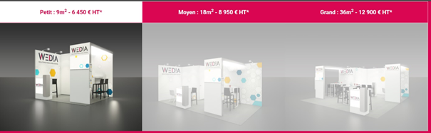 tarif stand modulaire